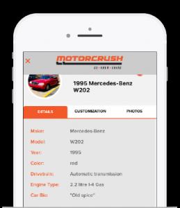 This is a screen grab of a car bio written about a 1995 Mercedez-Benz.