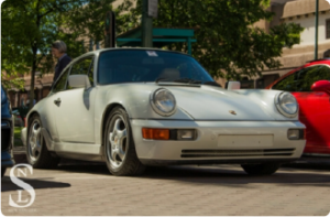This is a picture of the white 1989 Porsche Carrera 4 explained in the car bio that follows.